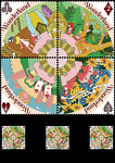 alice in wonderland stamps by lains