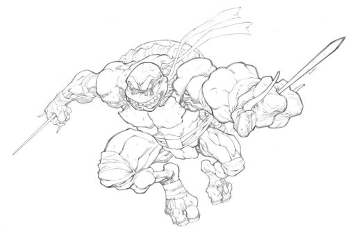 TMNT - Raphael by mikebowden