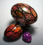 Three Painted Eggs by MandarinMoon