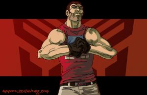 humanized ironhide by Ammotu
