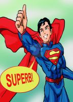 Superman Anime Thumb-Up by Artknight75