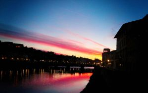 Sunset in Florence by taemindora