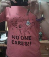 no one cares !! Pinkie Pie shirt by Lali-the-Bunny