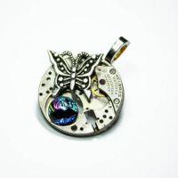 STEAMPUNK BUTTERFLY PENDANT 4 by Create-A-Pendant