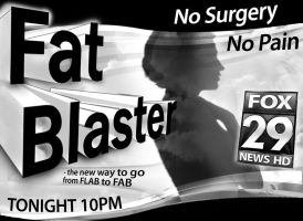 Fat Blaster Newsprint Ad by PatrickJoseph