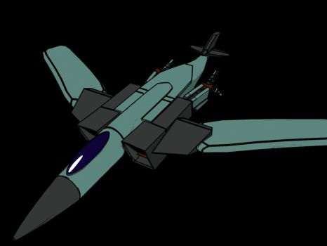 cell-shaded jet by cavemanjim