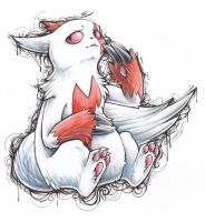 Zangoose Ink-ling by vulpix3337