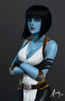 Blue skinned Deadliness by Mauricio-Morali