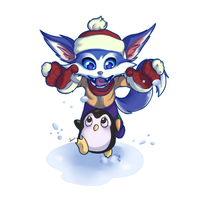 Chibi: Gnar Snow Day by mirecarrot