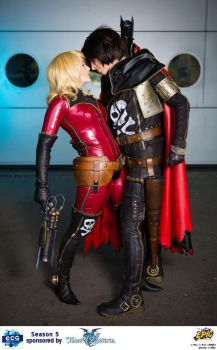 Captain Harlock and Kei Yuki by NomesCosplay