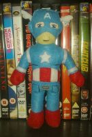 Captain America Plushie - The Avengers - Marvel by AlexsPlushies