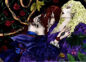 Armand and Lestat-Dunkle Liebe by SeraphimTenshi