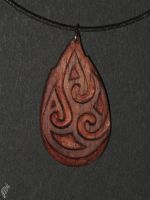 redwood flame pendant by steelraven