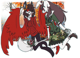 .: request friends :. mortel163 and mai-redfox by skuIIy