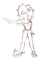 Adult Maggie sketch by MissFuturama
