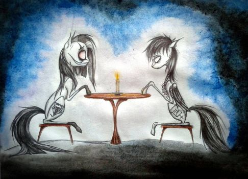 Commission ~ The Ghost of You ~ by PinkamenaCheshirePie