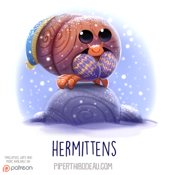 Daily Paint 1537. Hermittens by Cryptid-Creations