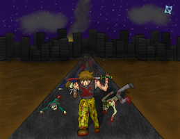 Cage Vs Zombies Contest Entry by Lekonua
