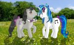 Vinyl Scratch and Octavia Melody G1 style by Little-Horrorz