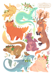 Tea Dragon Selection by strangelykatie
