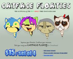 CatFace Floaties by Kraden