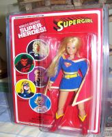 Custom Supergirl  Mego Figure On Custom Card by WM4ART