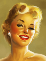pin up face study by clc1997