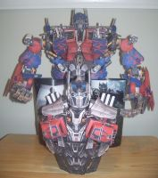 Optimus Prime AOE Papercraft WIP (Part2) by Arc-Caster135