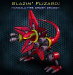 Blazin' Flizard Mandala Fire Crush Dragon by Superpatch246