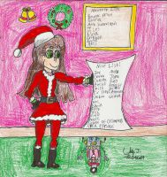 Christmas 2014-Jessie Claus by Urvy1A