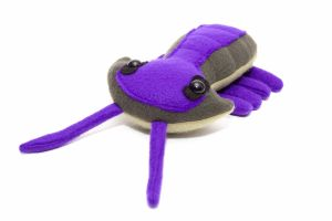 Baby Trilobite Plush in Purple and Greens by Paleogirl