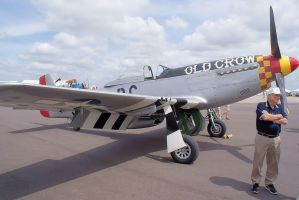 Bud Anderson with P-51D-30-NA Old Crow by Valder137