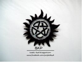 Supernatural - Anti-possession sigil - felt badge by nezstorm