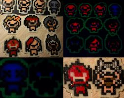 The Binding of Isaac - Night-Glowing Characters by Sacyra