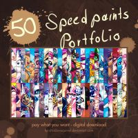 50 Speedpaints Portfolio by KP-ShadowSquirrel