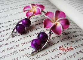 Polymer clay earrings - Princeps by Benia1991