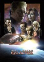 Battlestar Galactica Movie Poster by tanman1