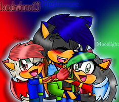 Young Moonlight, Nightmare, and Negative by 1sonadowforever123
