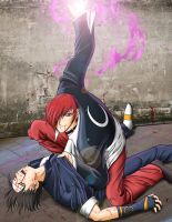 King of Fighters - Kyo vs Iori by Mastens