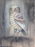 Robot  Owl by RachelQuinlan