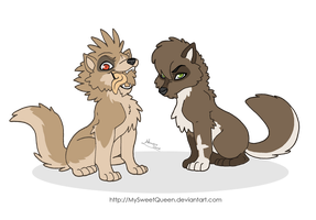 Crest and Cross cubs by MySweetQueen