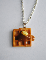 Waffle with Syrup Necklace by ClayRunway