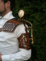 steampunk Gauged shoulder by Skinz-N-Hydez