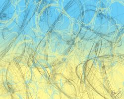Abstract_yellow Blue by aeonflux707