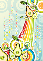 Funky Pears by MaShusik-Design