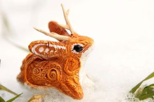 Gold Jackalope by hontor