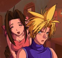 CLOUD AND AERIS by AnAngelkiss