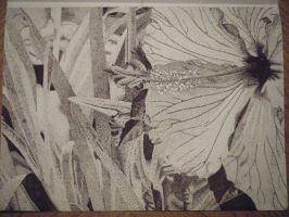 Pointillism Hibiscus by Eclipsed05