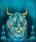 Fantasy Tiger Blue by Anant-art