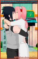SasuSaku with the return of Sasuke by byBlackRose